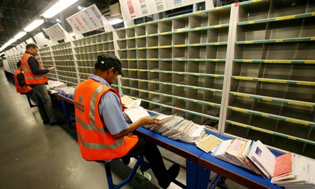 The Mood In The Royal Mail Sorting Office Going Postal